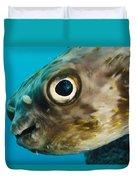 Long-spine Porcupinefish Diodon Duvet Cover
