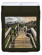 Long Stairway To Beach Duvet Cover