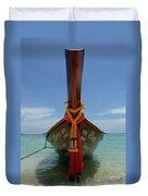 Long Tail Boat Thailand Duvet Cover