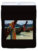 Long Tail Boats Duvet Cover