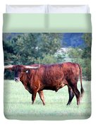 Longhorn Of Texas Duvet Cover