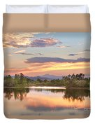 Longs Peak Evening Sunset View Duvet Cover