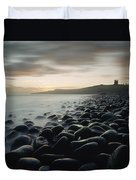 Looking Along Boulder Covered Beach Duvet Cover