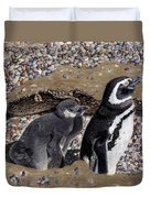 Looking Out For You - Penguins Duvet Cover
