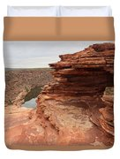 Looking Past Natures Window Duvet Cover