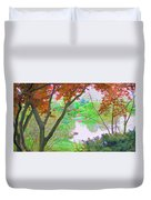 Looking Through The Trees  Duvet Cover
