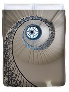 Looking Up At A Spiral Staircase Duvet Cover