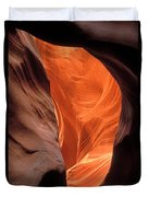 Looking Up At Antelope Canyon Duvet Cover