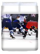 Loose Puck Duvet Cover by Karol Livote