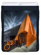 L'orange Facade Duvet Cover