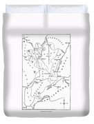 Lorraine And Alsace: Map Duvet Cover