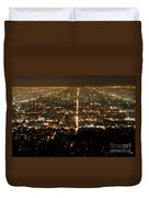 Los Angeles At Night 2 Duvet Cover