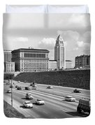 Los Angeles In The 1950s Duvet Cover