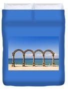Los Arcos Amphitheater In Puerto Vallarta Duvet Cover by Elena Elisseeva
