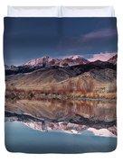 Lost River Range Winter Reflection Duvet Cover