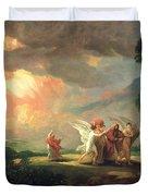 Lot Fleeing From Sodom Duvet Cover