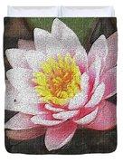 Lotus In The Rain 3 Duvet Cover