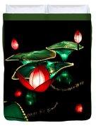 Lotus Lanterns 4 Duvet Cover