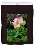 Lotus Lily Standing Tall Duvet Cover
