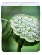 Lotus Seed Pods Duvet Cover