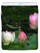 Lotus--stages Of Life II Dl024 Duvet Cover