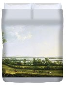 Lough Erne From Knock Ninney - With Bellisle In The Distance Duvet Cover