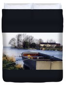 Lough Neagh, Co Antrim, Ireland Boat In Duvet Cover