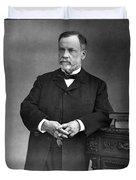 Louis Pasteur, French Chemist Duvet Cover by Omikron