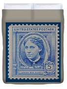 Louisa May Alcott Postage Stamp  Duvet Cover