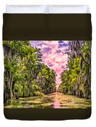 Louisiana Bayou Sunrise Duvet Cover