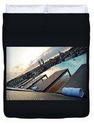 Lounging Poolside Duvet Cover