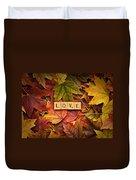 Love-autumn Duvet Cover
