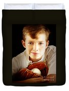 Love Baseball Duvet Cover by Lj Lambert