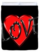 Love Black And Red 1 Duvet Cover