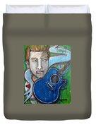 Love For Blue Guitar Duvet Cover