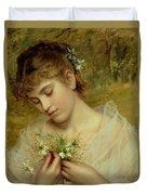 Love In A Mist Duvet Cover by Sophie Anderson