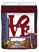 Love In Philadelphia Duvet Cover
