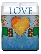 Love Is All You Need Poster Duvet Cover