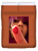 Love Me Love My Finger Duvet Cover