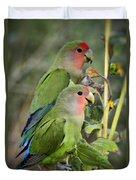 Lovebird Couple  Duvet Cover