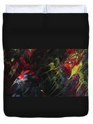 Lovebirds In The Night 01 Duvet Cover