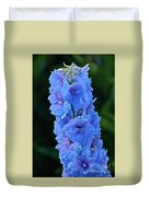 Lovely Larkspur Blue Duvet Cover
