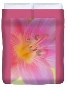 Lovely Lily Duvet Cover by Kathy Yates