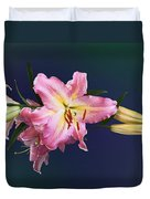 Lovely Pink Lilies Duvet Cover
