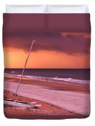 Lovers Embrace On The Shoreline Duvet Cover