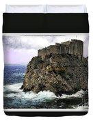 Lovrijenac Tower In Dubrovnik Duvet Cover