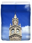 Low Angle View Of A Clock Tower, Albert Duvet Cover