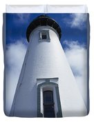 Low Angle View Of Lighthouse Duvet Cover