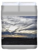 Low Hanging Clouds At Sunset Duvet Cover