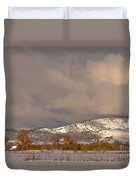 Low Winter Storm Clouds Colorado Rocky Mountain Foothills 2 Duvet Cover